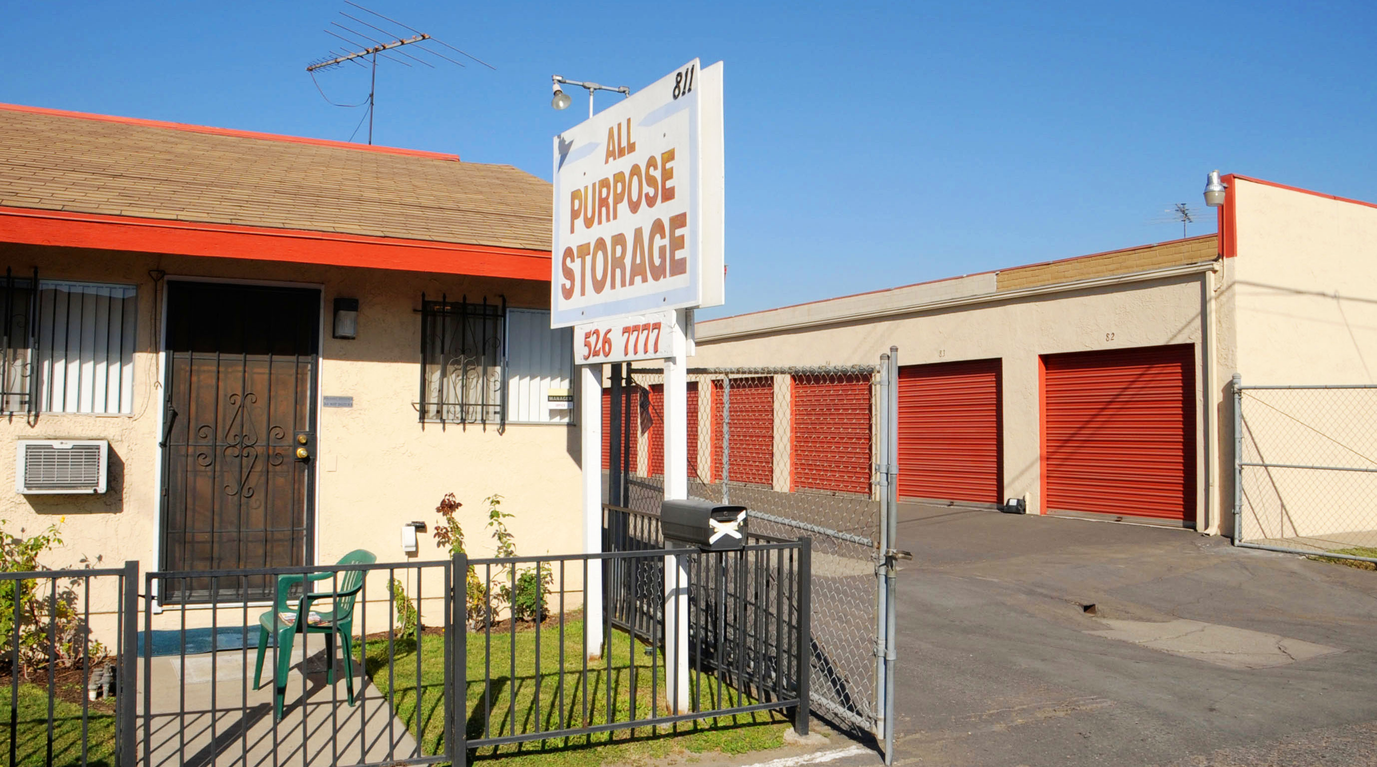 Storage units at All Purpose Storage in Fullerton CA